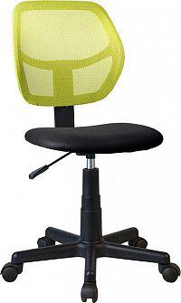 Tempo Kondela Otočná židle MESH - zelená / černá + kupón KONDELA10 na okamžitou slevu 3% (kupón uplatníte v košíku)