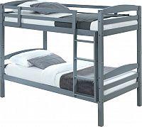 Tempo Kondela Patrová postel FORKOLA, 90x200 cm - masivní dřevo / šedá + kupón KONDELA10 na okamžitou slevu 3% (kupón uplatníte v košíku)