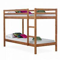Tempo Kondela Patrová postel VERSO - borovicové dřevo/světle hnědá + kupón KONDELA10 na okamžitou slevu 3% (kupón uplatníte v košíku)