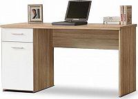 Tempo Kondela PC stůl EGON - dub sonoma/bílá + kupón KONDELA10 na okamžitou slevu 10% (kupón uplatníte v košíku)