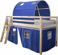 Tempo Kondela Postel se zvýšeným lůžkem INDIGO, 90x200 cm - přírodní/modrá + kupón KONDELA10 na okamžitou slevu 3% (kupón uplatníte v košíku)