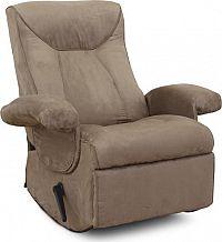 Tempo Kondela Relaxační křeslo SUAREZ - šedé + kupón KONDELA10 na okamžitou slevu 10% (kupón uplatníte v košíku)
