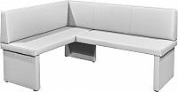 Tempo Kondela Rohová lavice MODERN bílá - LEVÁ + kupón KONDELA10 na okamžitou slevu 10% (kupón uplatníte v košíku)
