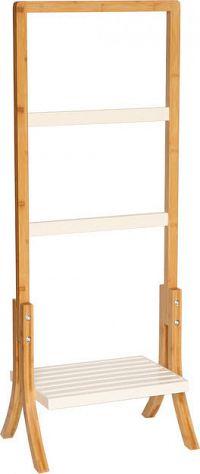 Tempo Kondela Stojan na ručníky TENS - bambus/bílá + kupón KONDELA10 na okamžitou slevu 3% (kupón uplatníte v košíku)