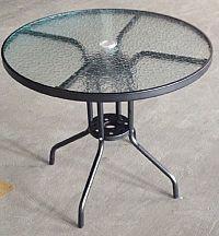 Tempo Kondela Stůl BORGEN TYP 2 - černá ocel / temperované sklo + kupón KONDELA10 na okamžitou slevu 10% (kupón uplatníte v košíku)