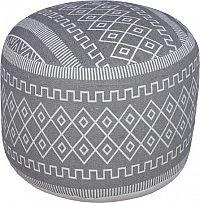 Tempo Kondela Taburet DROP - šedobílá/vzor + kupón KONDELA10 na okamžitou slevu 3% (kupón uplatníte v košíku)