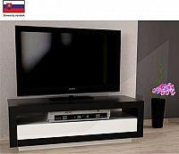 Tempo Kondela Televizní stolek AGNES - černá / bílá + kupón KONDELA10 na okamžitou slevu 10% (kupón uplatníte v košíku)