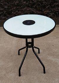 Tempo Kondela Zahradní stůl OLIVAN - ocel/temperované sklo + kupón KONDELA10 na okamžitou slevu 10% (kupón uplatníte v košíku)