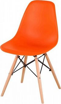 Tempo Kondela Židle CINKLA NEW - oranžová + buk