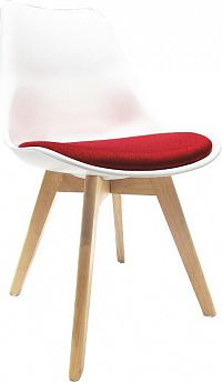 Tempo Kondela Židle DAMARA - bílá / červená + kupón KONDELA10 na okamžitou slevu 10% (kupón uplatníte v košíku)