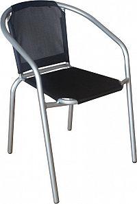 Tempo Kondela Židle KERTA - černá / stříbrná + kupón KONDELA10 na okamžitou slevu 3% (kupón uplatníte v košíku)