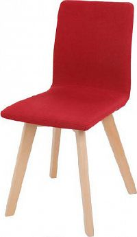 Tempo Kondela Židle LODEMA - červená / buk + kupón KONDELA10 na okamžitou slevu 10% (kupón uplatníte v košíku)