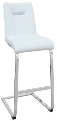 Barová židle Flex, bílá ekokůže