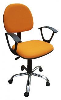 Dětská židle Erfon, oranžová látka