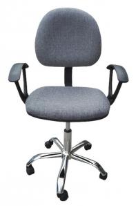 Dětská židle Erfon, šedá látka