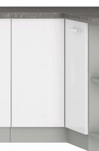 Dolní rohová kuchyňská skříňka Bianka 90DN