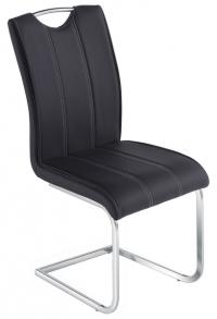 Jídelní židle Elza, černá ekokůže