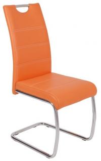 Jídelní židle Flora, oranžová ekokůže