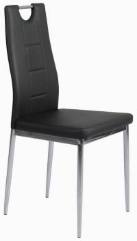 Jídelní židle Melanie, černá ekokůže