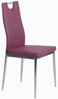 Jídelní židle Melanie, fialová ekokůže