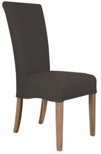 Jídelní židle Roberta, hnědá látka