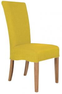 Jídelní židle Roberta, žlutá látka