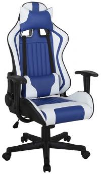 Kancelářské křeslo Refocus, modrá/bílá ekokůže