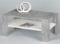 Konferenční stolek Joker, beton/bílá