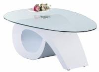 Konferenční stolek Walker, bílý lesk