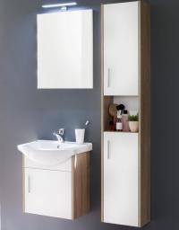 Koupelnová sestava Jersey 901-41, s umyvadlem, dub sonoma/bílá