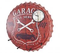 Nástěnný věšák s hodinami Garagus 89496