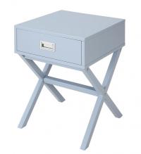 Odkládací stolek se zásuvkou Focus, bledě modrý