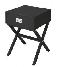 Odkládací stolek se zásuvkou Focus, černý