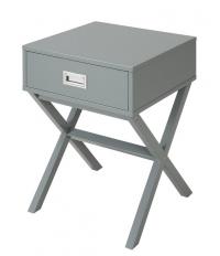 Odkládací stolek se zásuvkou Focus, šedý