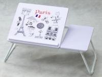 Polohovatelný přenosný stolek Laptop, motiv Paris
