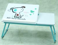 Polohovatelný přenosný stolek Laptop, motiv pejsek