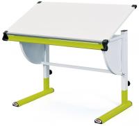 Polohovatelný psací stůl Cetrix, zelený/bílý