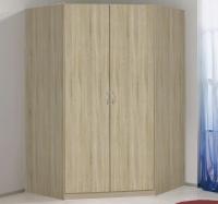 Rohová šatní skříň Case, dub sonoma