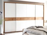 Šatní skříň Bergamo, bílá/dub wotan