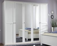 Šatní skříň Chalet, 225 cm, bílá