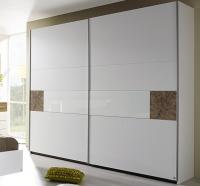 Šatní skříň Kirchberg, 218 cm, bílá/dub