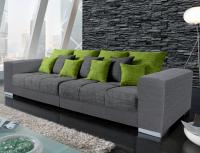 Sedací souprava Swing Big Sofa, šedá/zelená tkanina