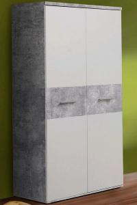 Skříň Winnie S92, šedý beton/bílá