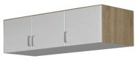 Skříňový nástavec Bremen, 136 cm, dub sonoma/bílá