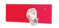 Věšákový panel Edmond 42490, červený lesk