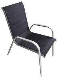 Zahradní židle Caspian, černá