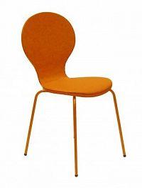 Flower - Jídelní židle, sedák (oranžová, eko kůže)