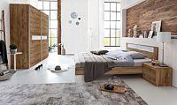 Pamela - Komplet postel 180,skříň 225cm,stolky (tmavý dub)