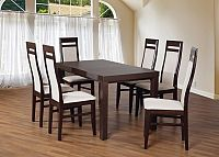 Set 3 - 6x židle, stůl, rozkládací (wenge/lana 21/buk)