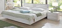 Susan - komplet, postel 160cm (bílý dub, chromové doplňky)